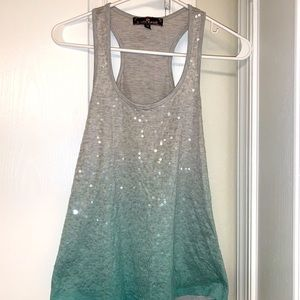 Almost Famous ombre sequins tank